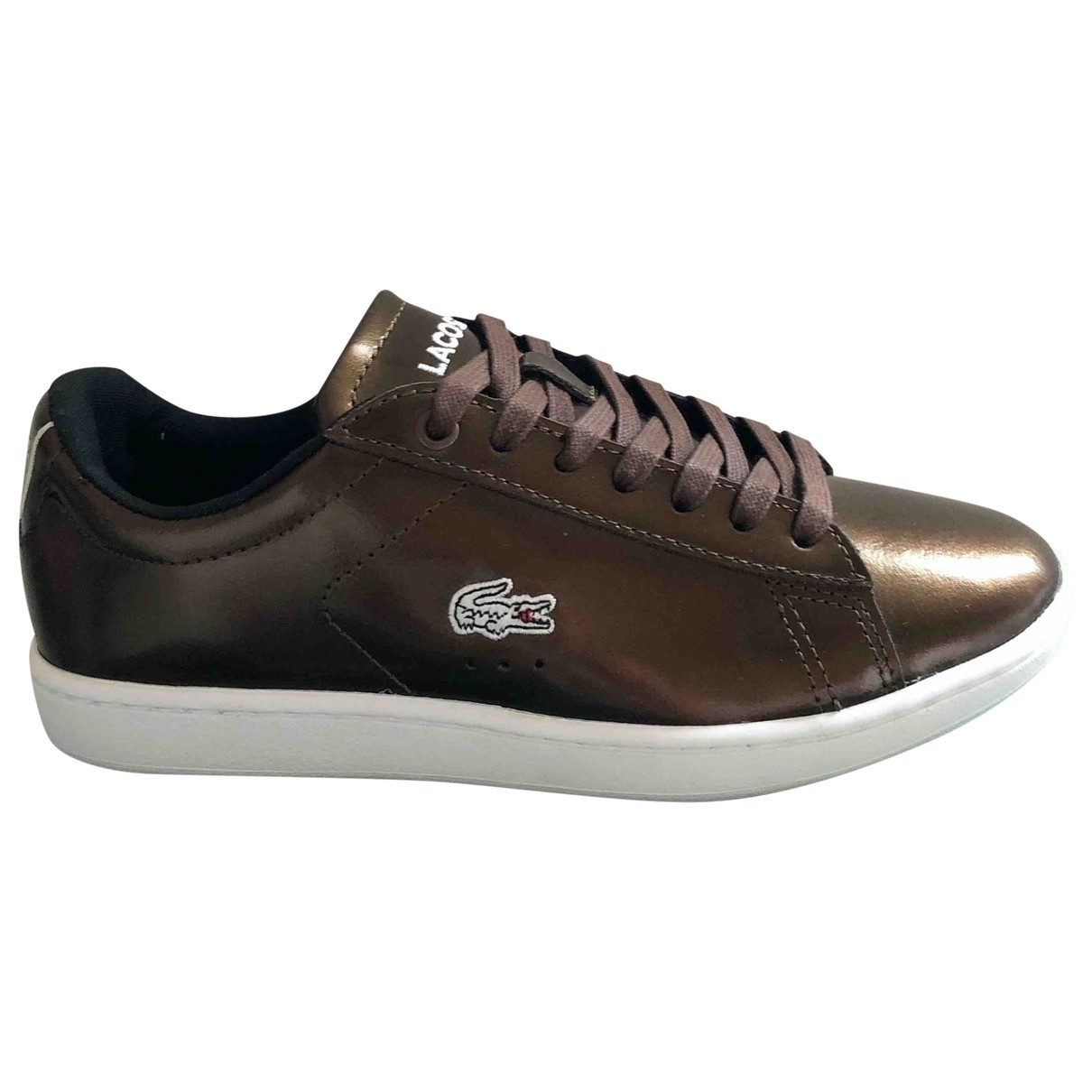 Lacoste \N Metallic Patent leather Trainers for Women 37.5 EU