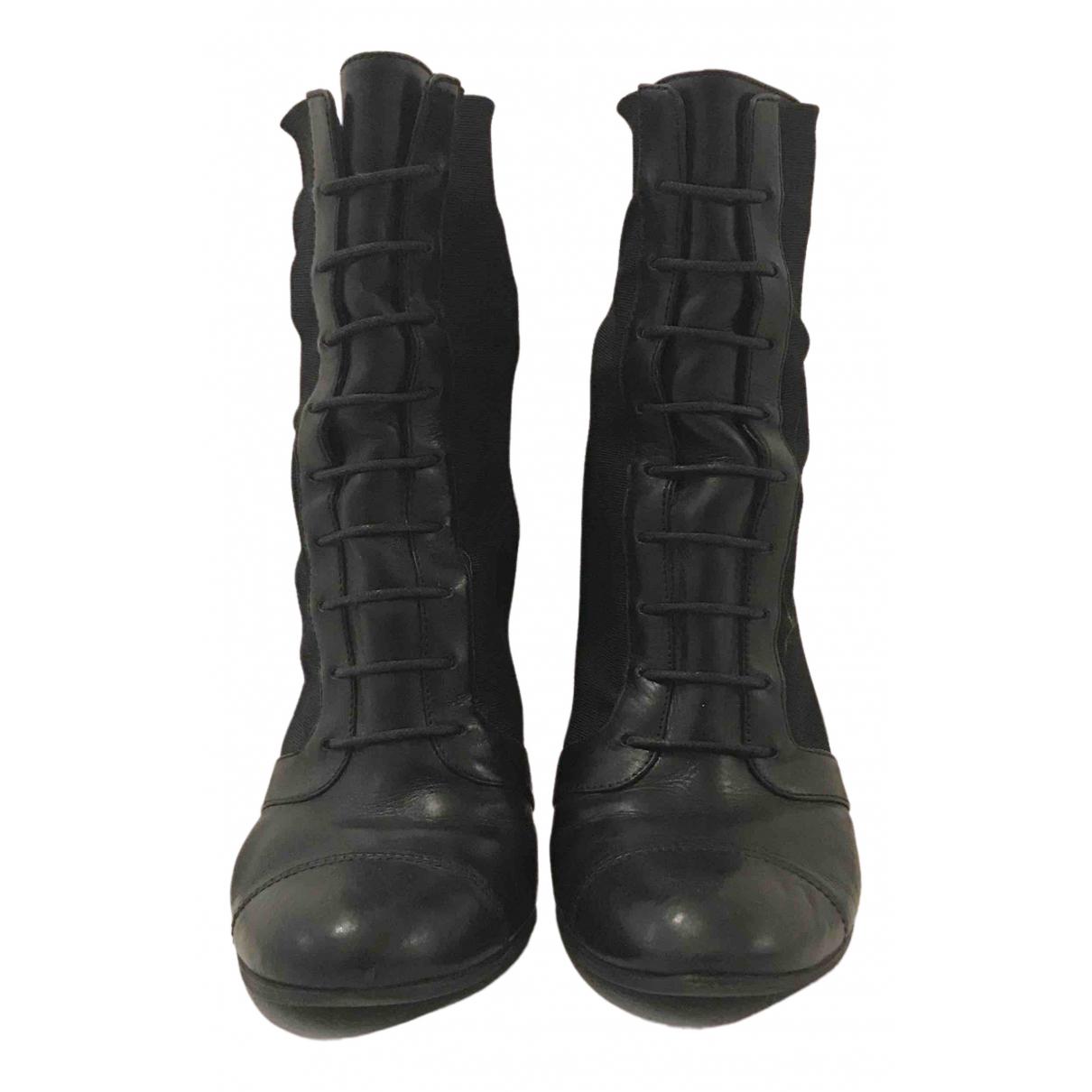 Max & Co \N Stiefel in  Schwarz Leder