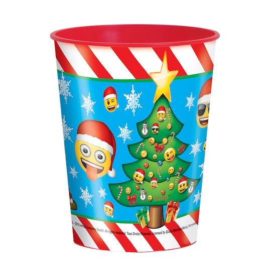 16 Oz Emoji Christmas Plastic Cup | Michaels®