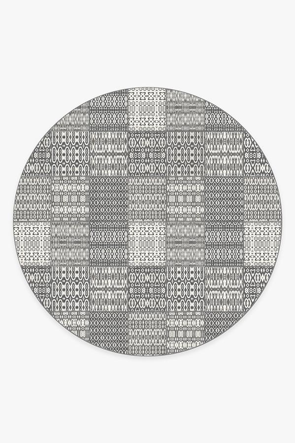 Washable Rug Cover | Chima Stone Rug | Stain-Resistant | Ruggable | 8' Round