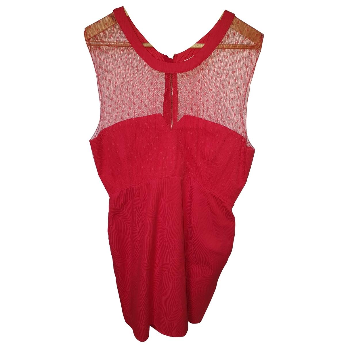 The Kooples Spring Summer 2019 Kleid in  Rot Viskose