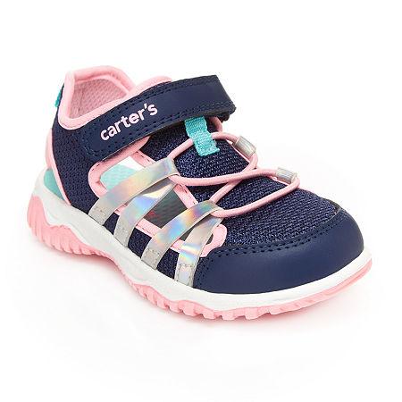 Carter's Toddler Girls Flat Sandals, 10 Medium, Blue