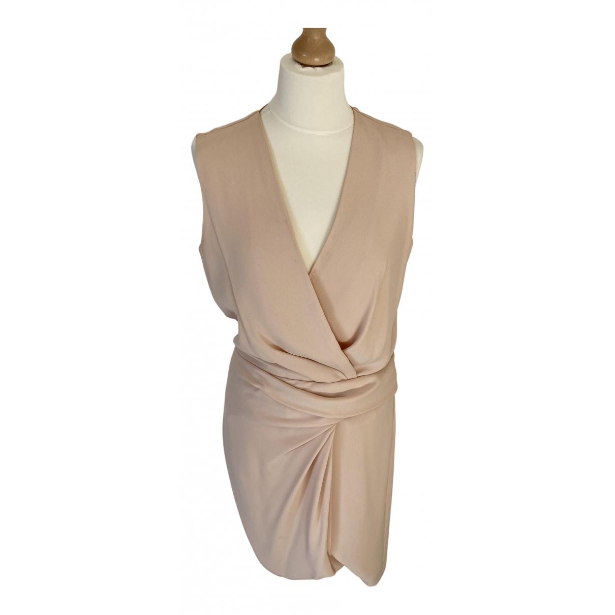 Diane Von Furstenberg \N Kleid in  Beige Synthetik