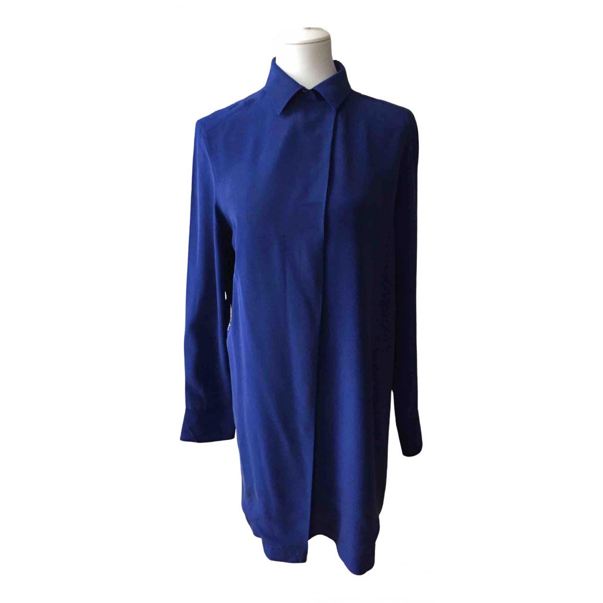 Sport Max - Top   pour femme en soie - bleu