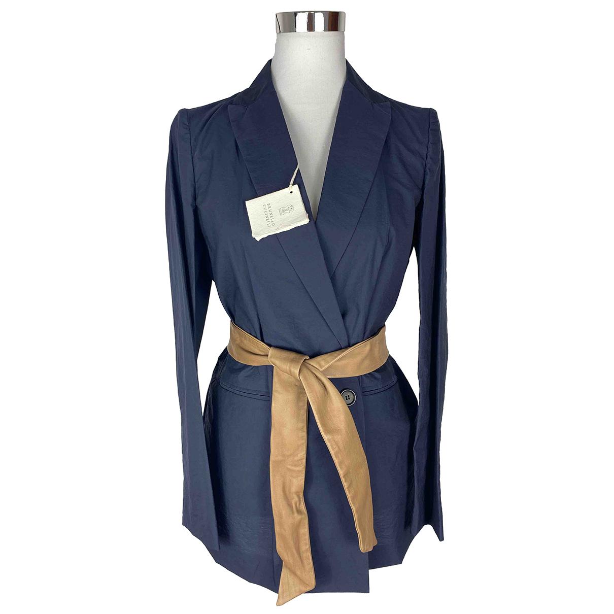 Brunello Cucinelli \N Blue Cotton jacket for Women 42 IT