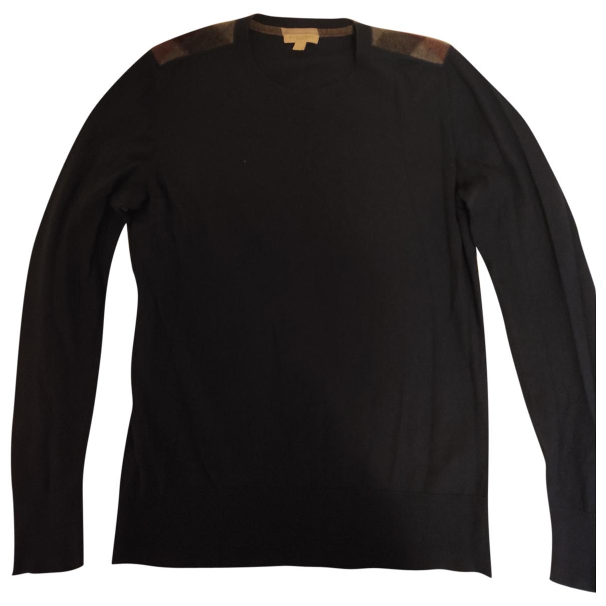 Burberry \N Pullover.Westen.Sweatshirts  in  Blau Kaschmir
