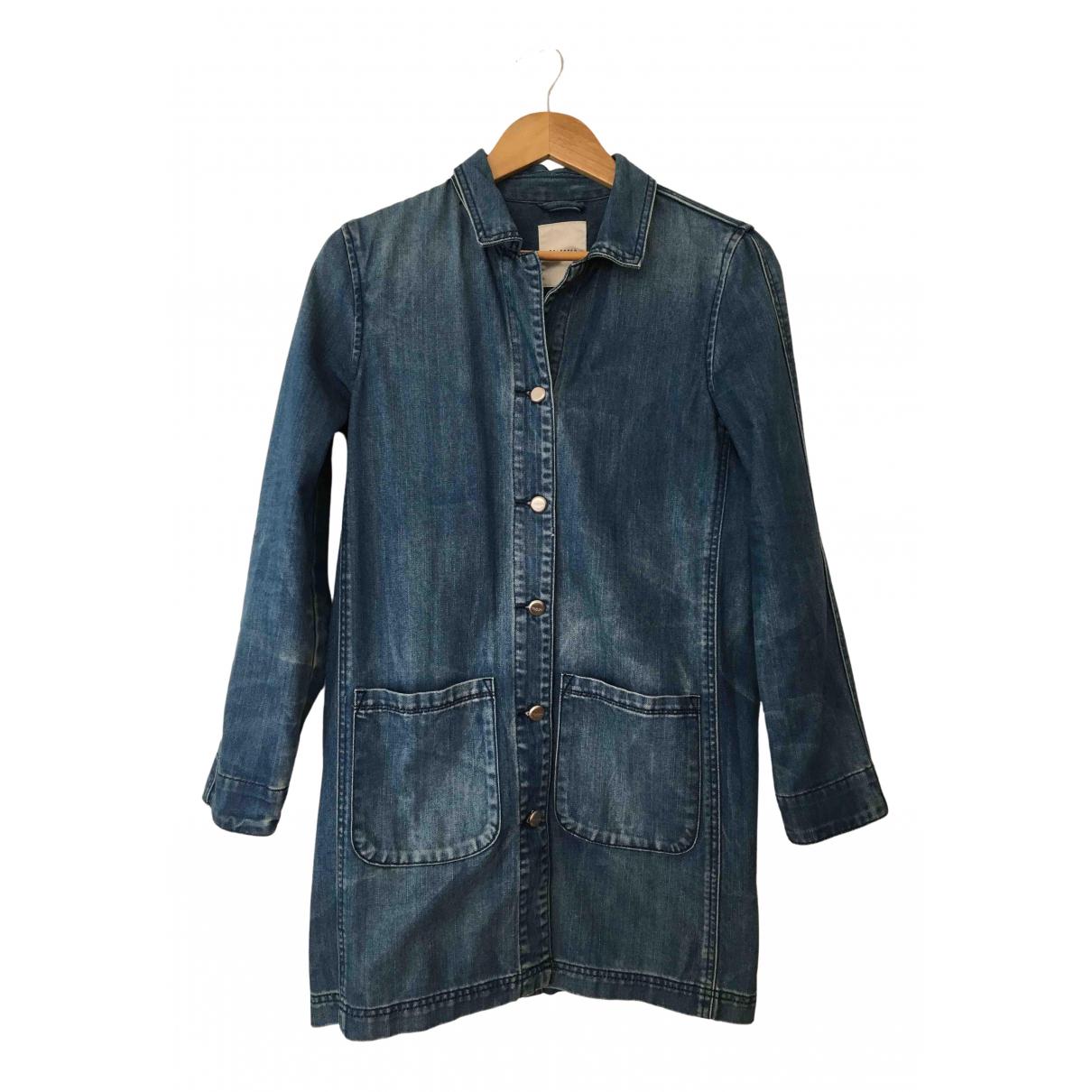 Non Signé / Unsigned \N Blue Denim - Jeans coat for Women 34 FR