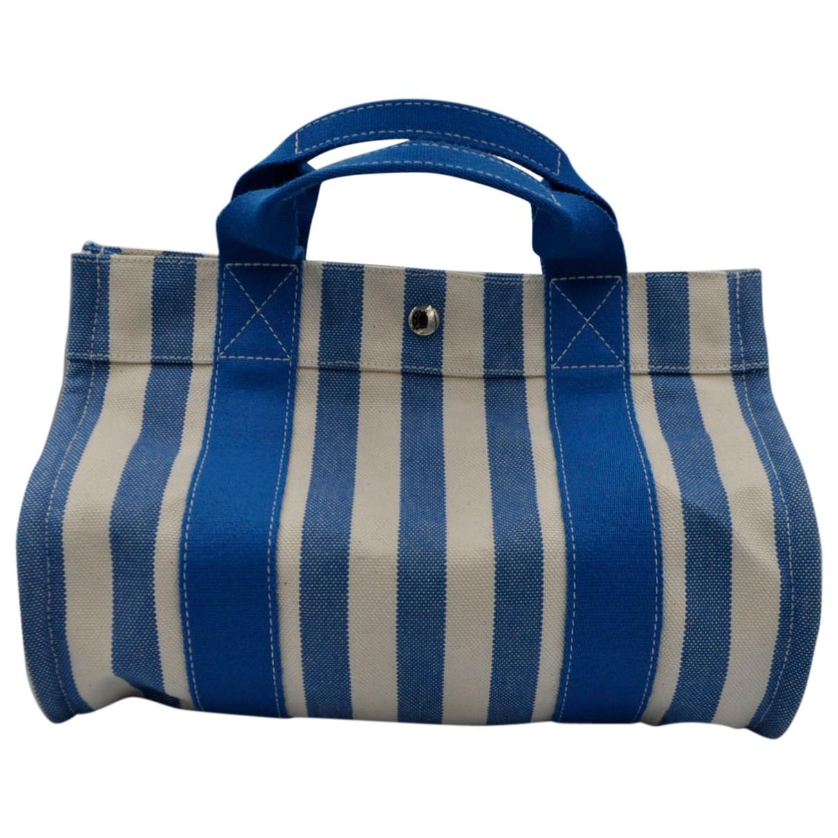 Hermès Herline Blue Cloth handbag for Women \N
