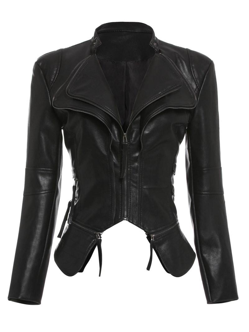 Ericdress Slim PU Standard PU Jacket