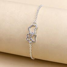 Hollow Out Heart Decor Bracelet
