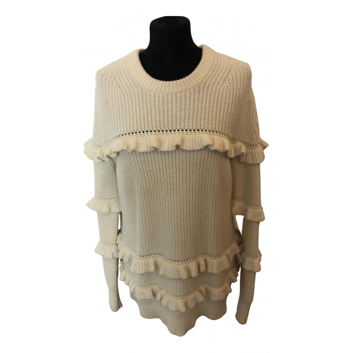 Michael Kors - Pull   pour femme en laine - blanc