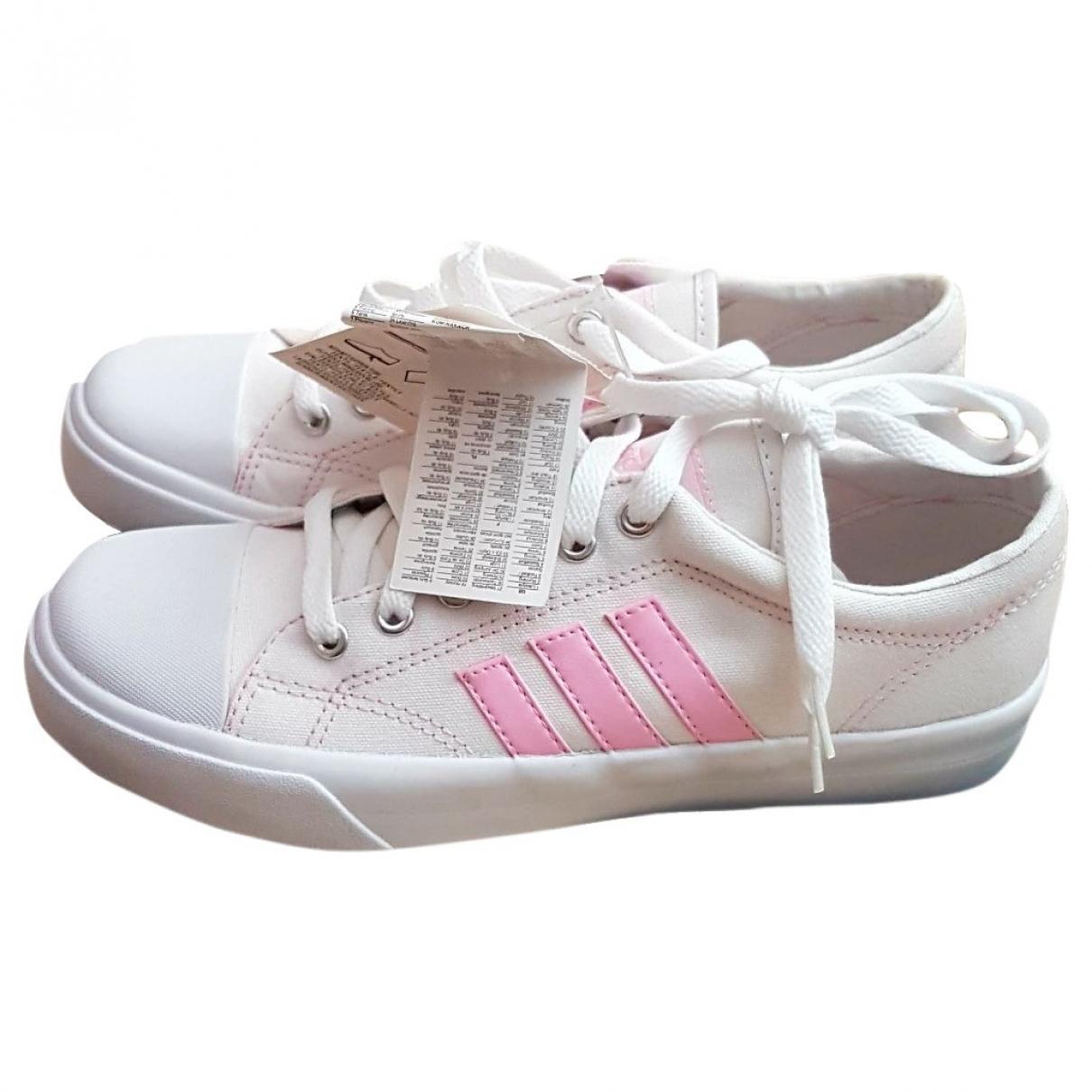 Adidas - Baskets   pour femme en toile - blanc