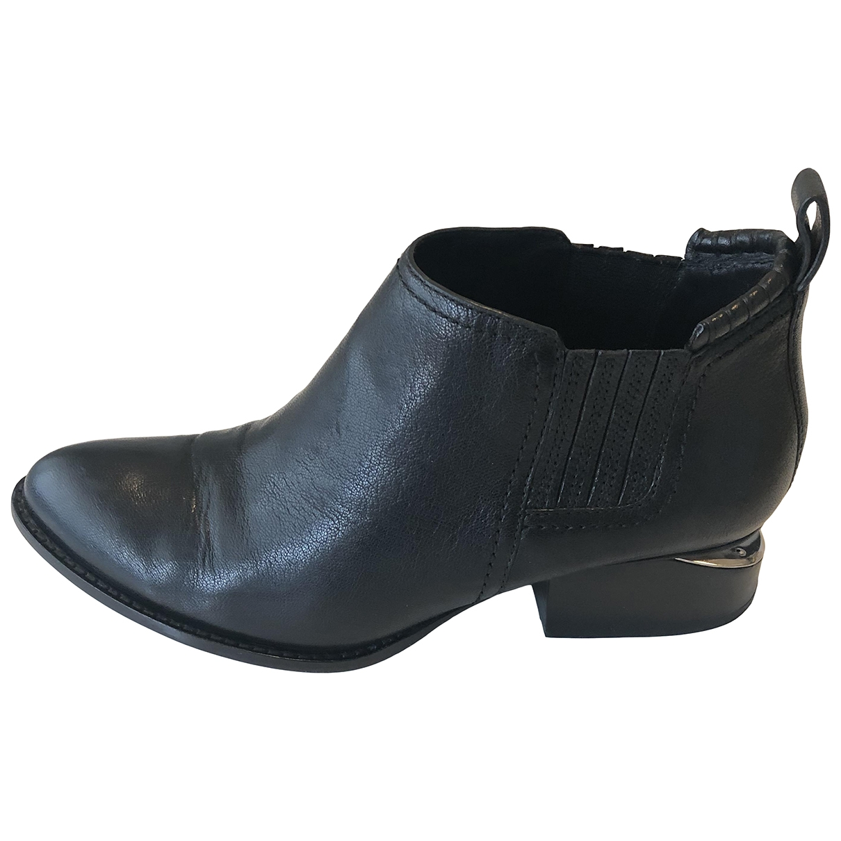 Alexander Wang Kori Black Leather Ankle boots for Women 38 EU