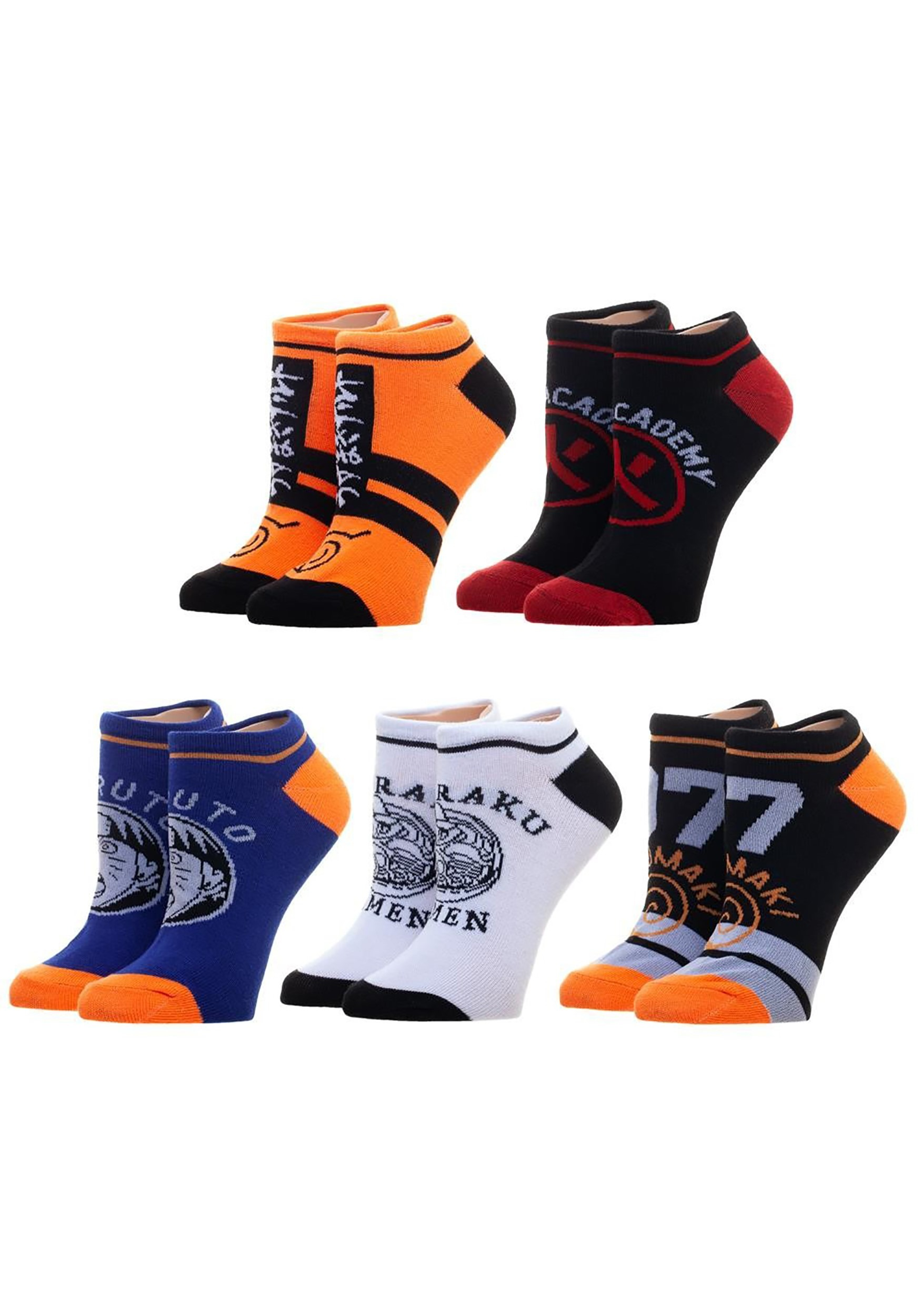 Ankle Sock Naruto 5 Pack set