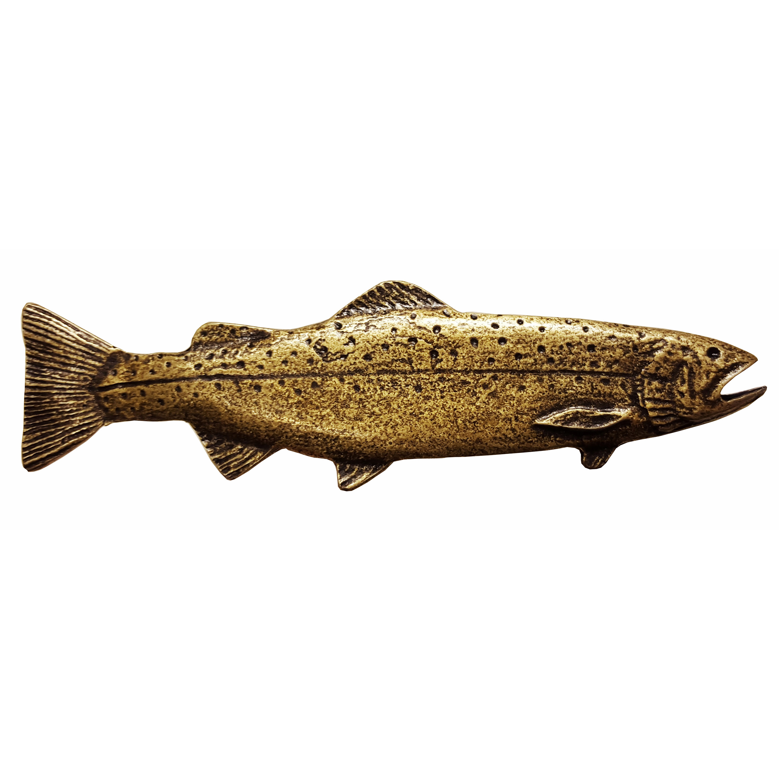 Long Trout Pull, Right, Antique Brass, Model 319AB