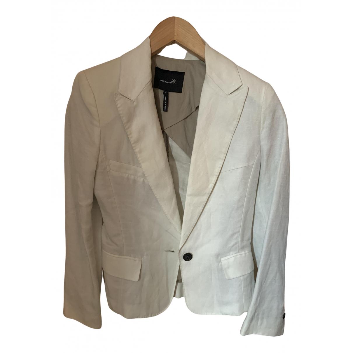 Isabel Marant N White Linen jacket for Women 0 0-5