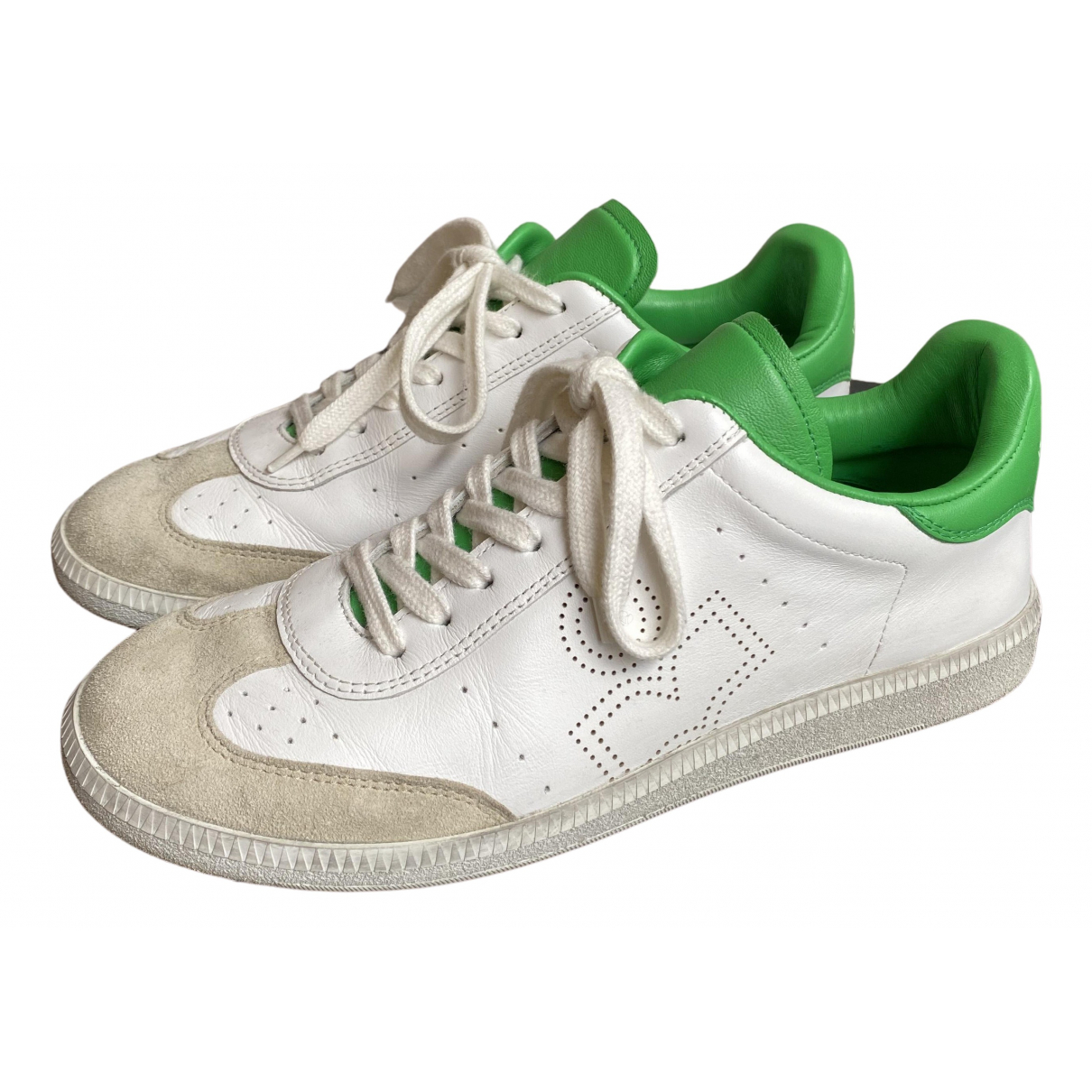 Isabel Marant N White Leather Trainers for Men 41 EU