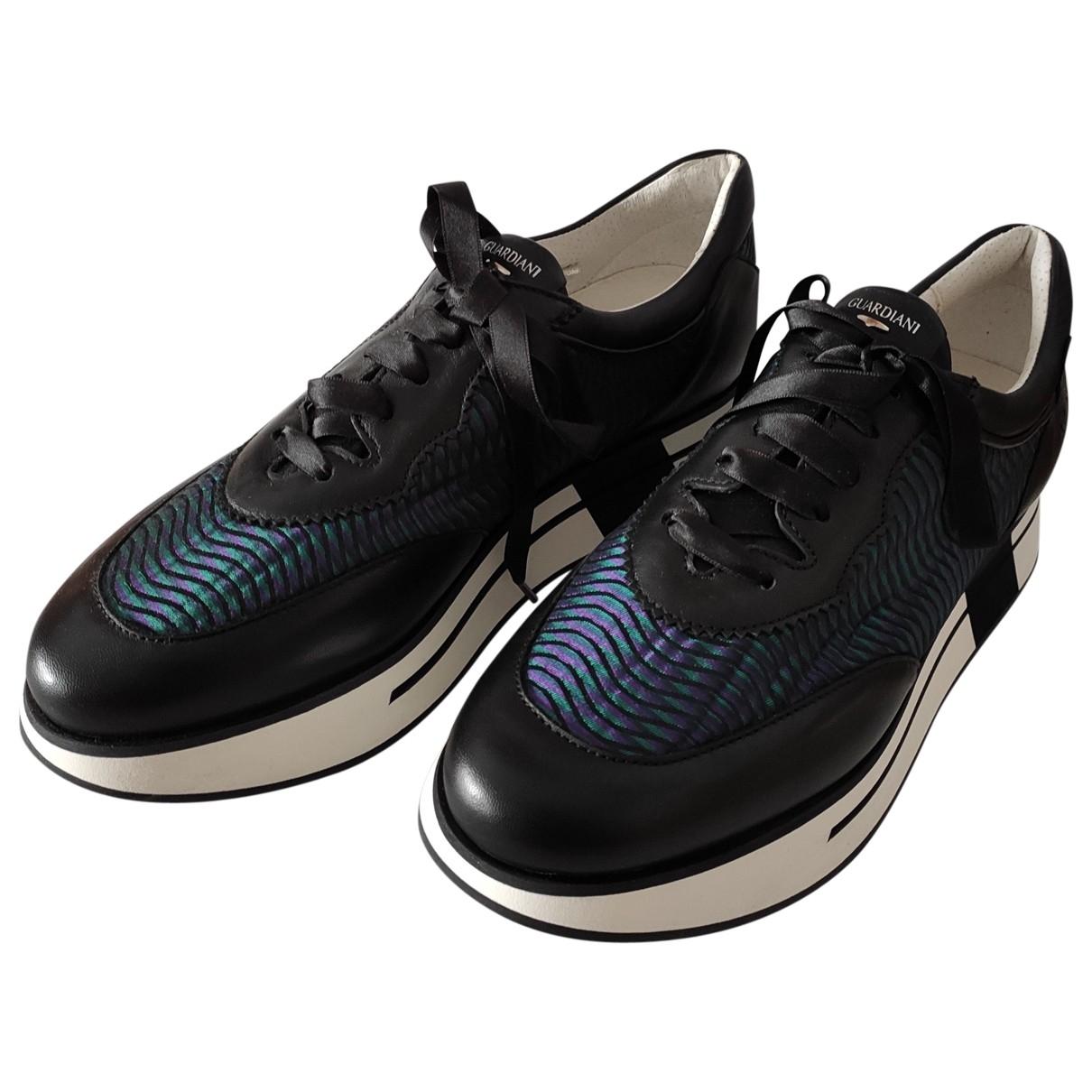 Alberto Guardiani - Baskets   pour femme en cuir - noir