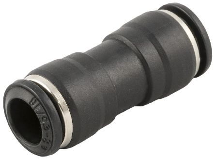 RS PRO Tube-to-Tube Pneumatic Straight Tube-to-Tube Adapter, Push In 6 mm to Push In 6 mm (10)