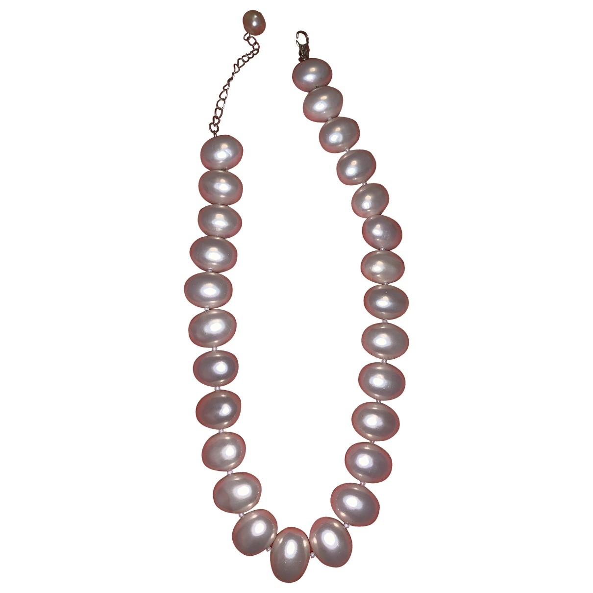 Non Signé / Unsigned Corail Beige Pearls necklace for Women \N