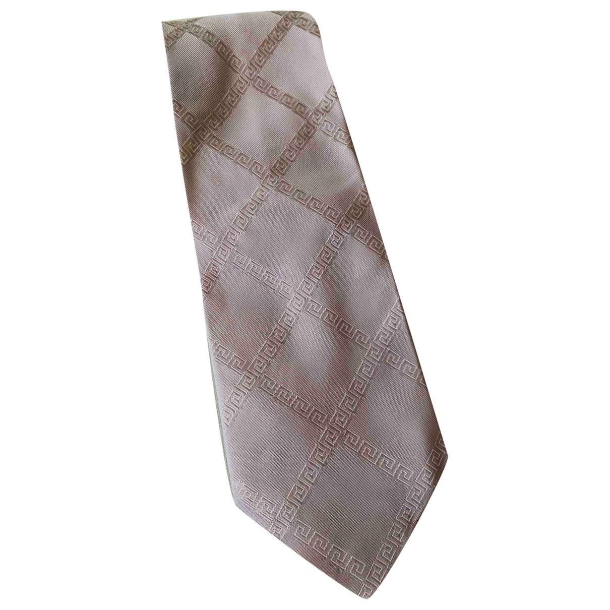 Gianni Versace \N Krawatten in  Grau Seide