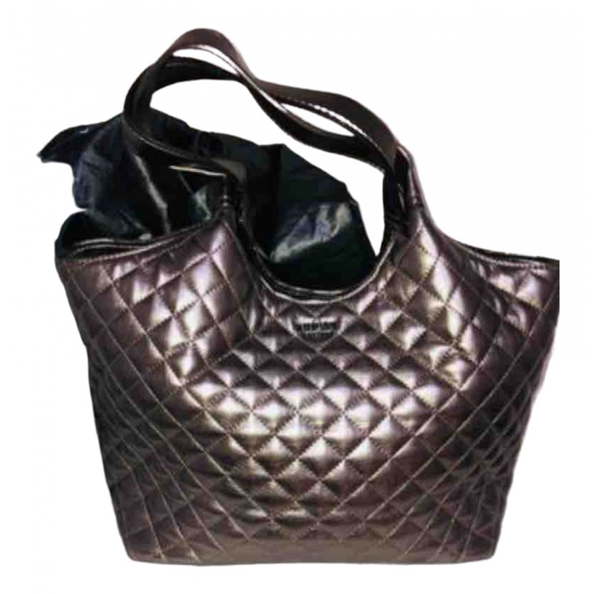 Guess \N Gold Fur handbag for Women \N
