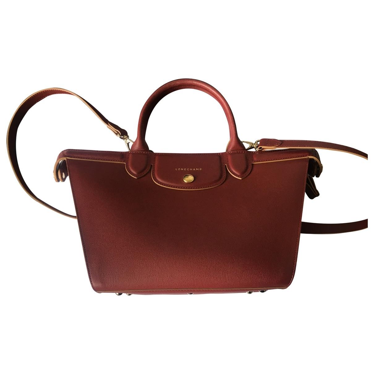 Longchamp \N Burgundy Leather handbag for Women \N