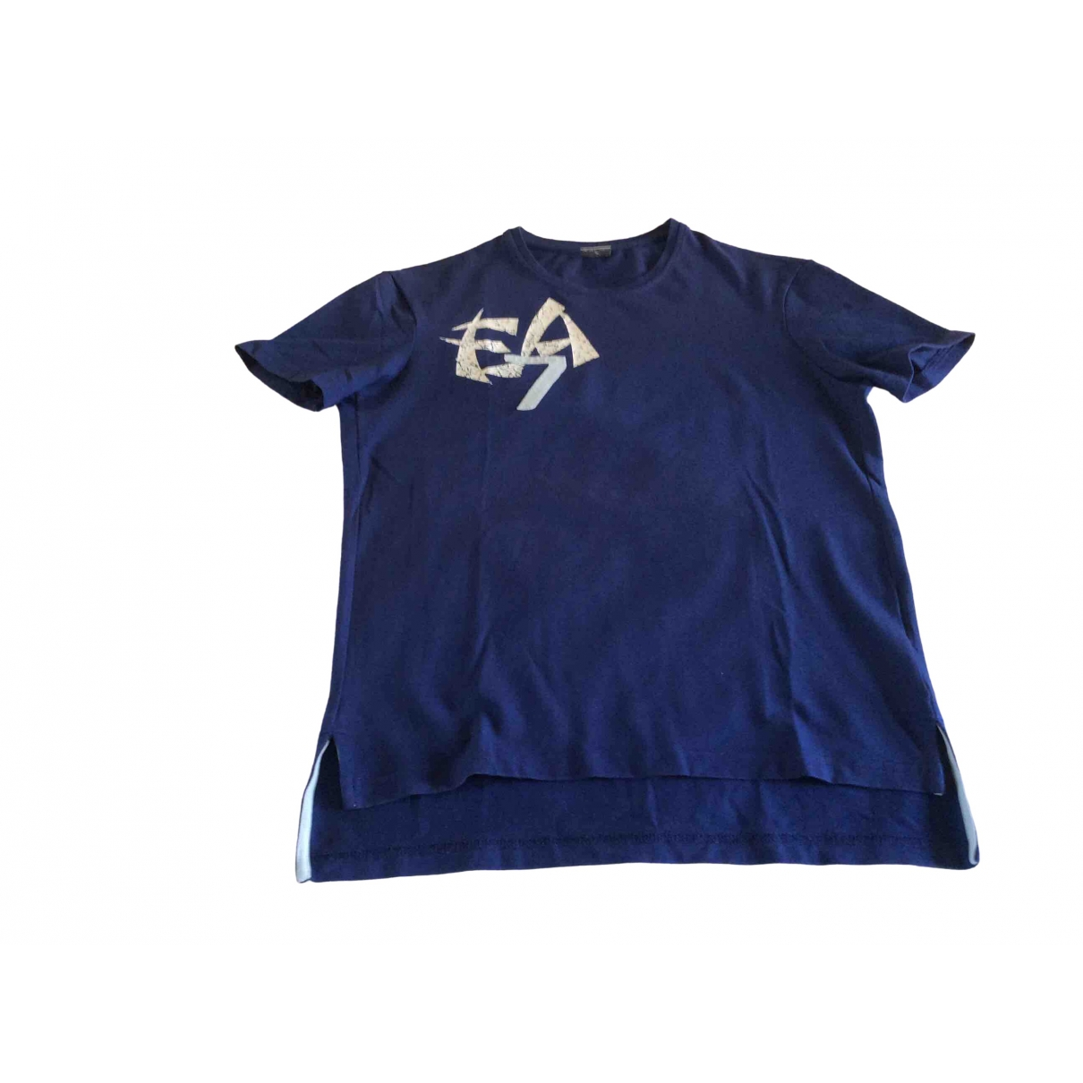 Emporio Armani \N Blue Cotton T-shirts for Men M International