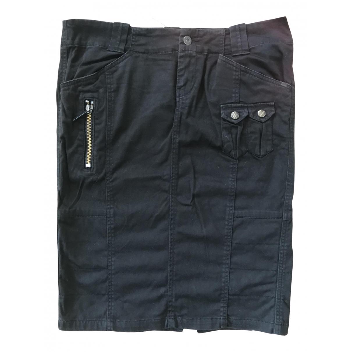 Diesel - Jupe   pour femme en coton - elasthane - noir