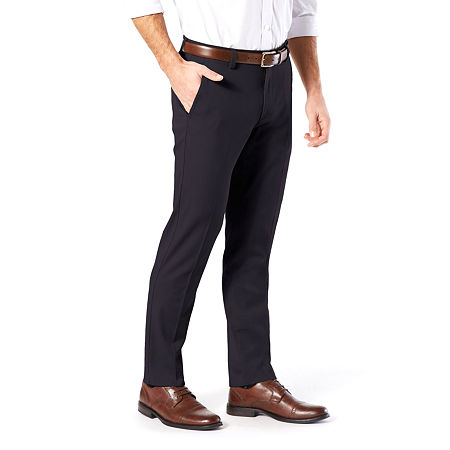 Dockers Men's Slim Fit Easy Khaki with Stretch Pants, 36 32, Blue