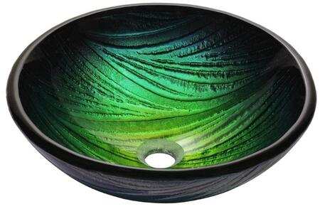 CGV39119MM1007ORB Nature Series 17 Nei Round Vessel Sink with 19-mm Tempered Glass Construciton  Easy-to-Clean Polished Surface  and Included Oil