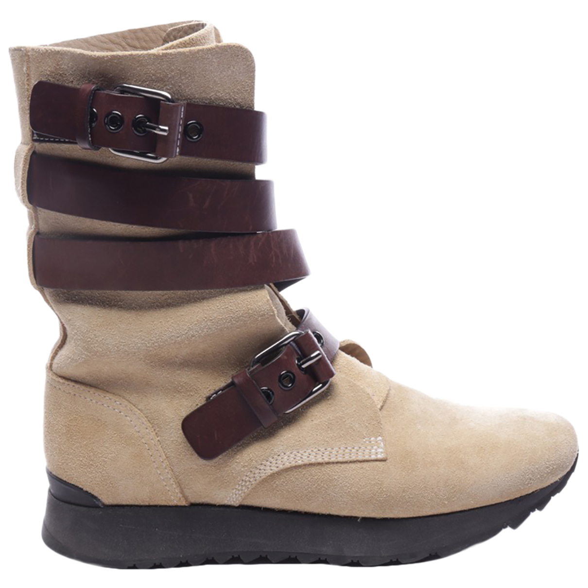 Loewe - Boots   pour femme en cuir - beige