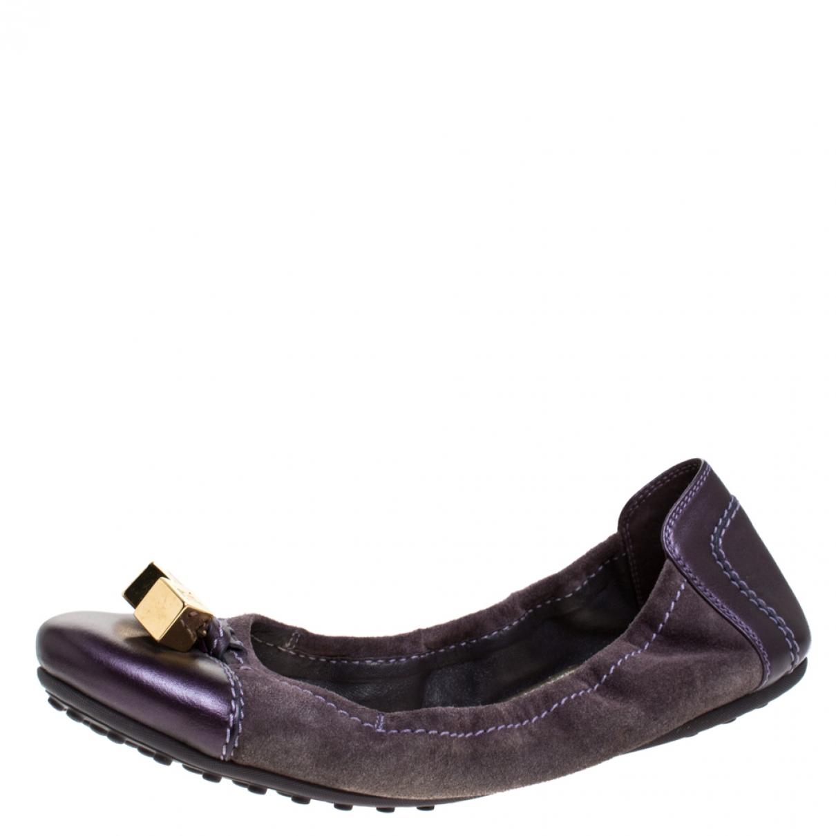 Louis Vuitton \N Purple Leather Ballet flats for Women 8 US