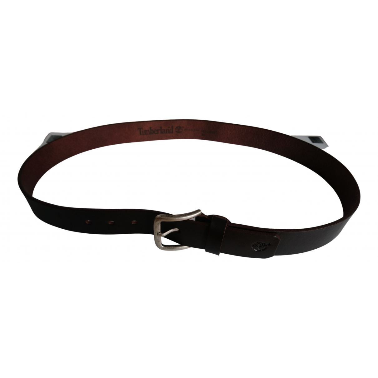 Timberland N Brown Leather belt for Men 100 cm