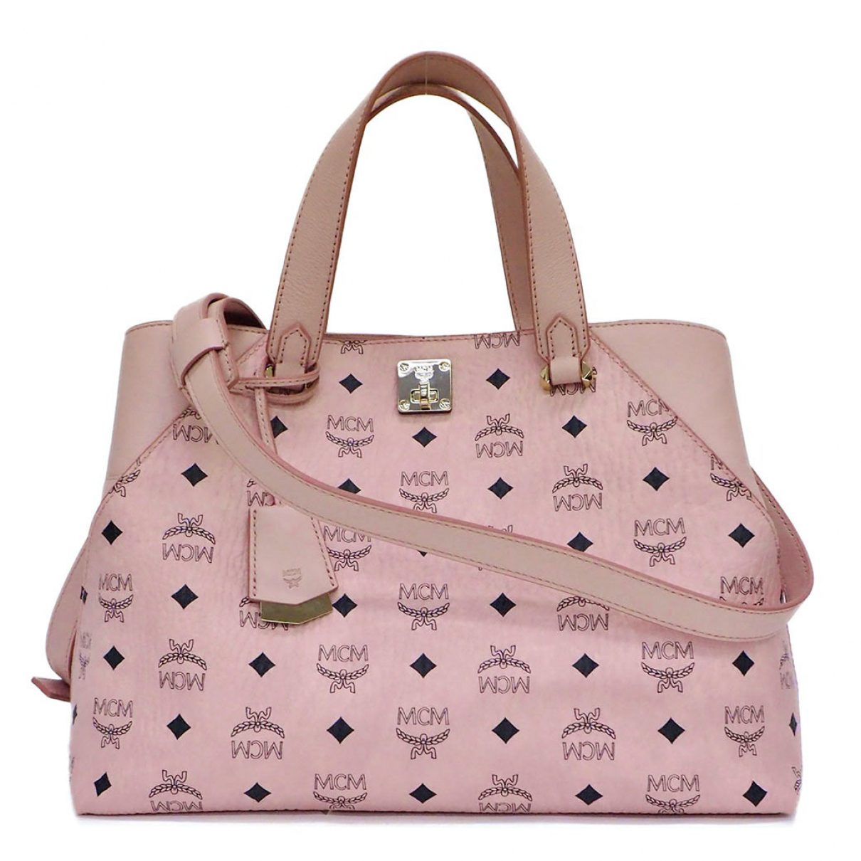 Mcm \N Pink Leather handbag for Women \N