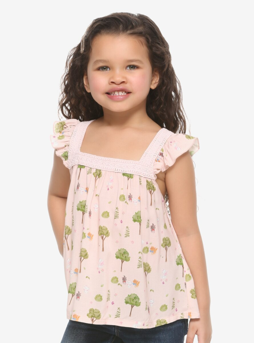 Our Universe Disney The Aristocats Greenery Ruffled Toddler Top - BoxLunch Exclusive