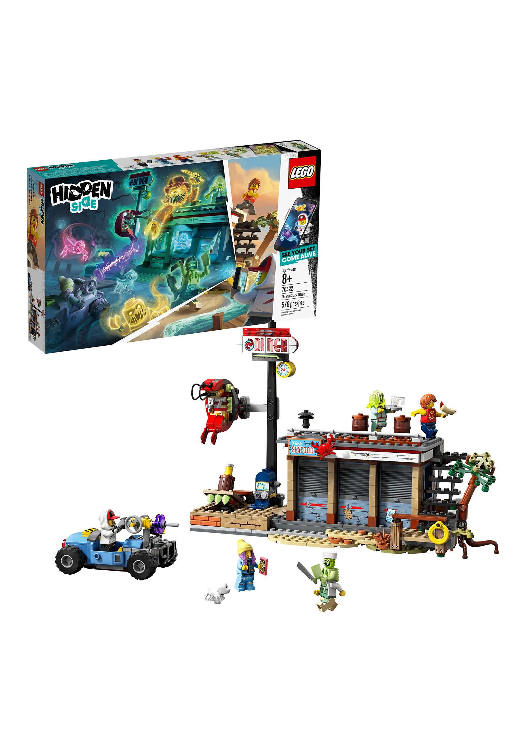 Shrimp Shack Attack LEGO Hidden Side Building Set