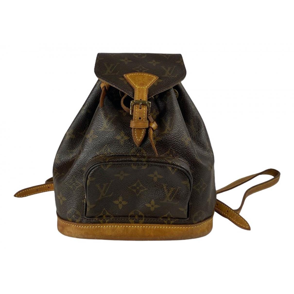 Mochila Montsouris de Lona Louis Vuitton