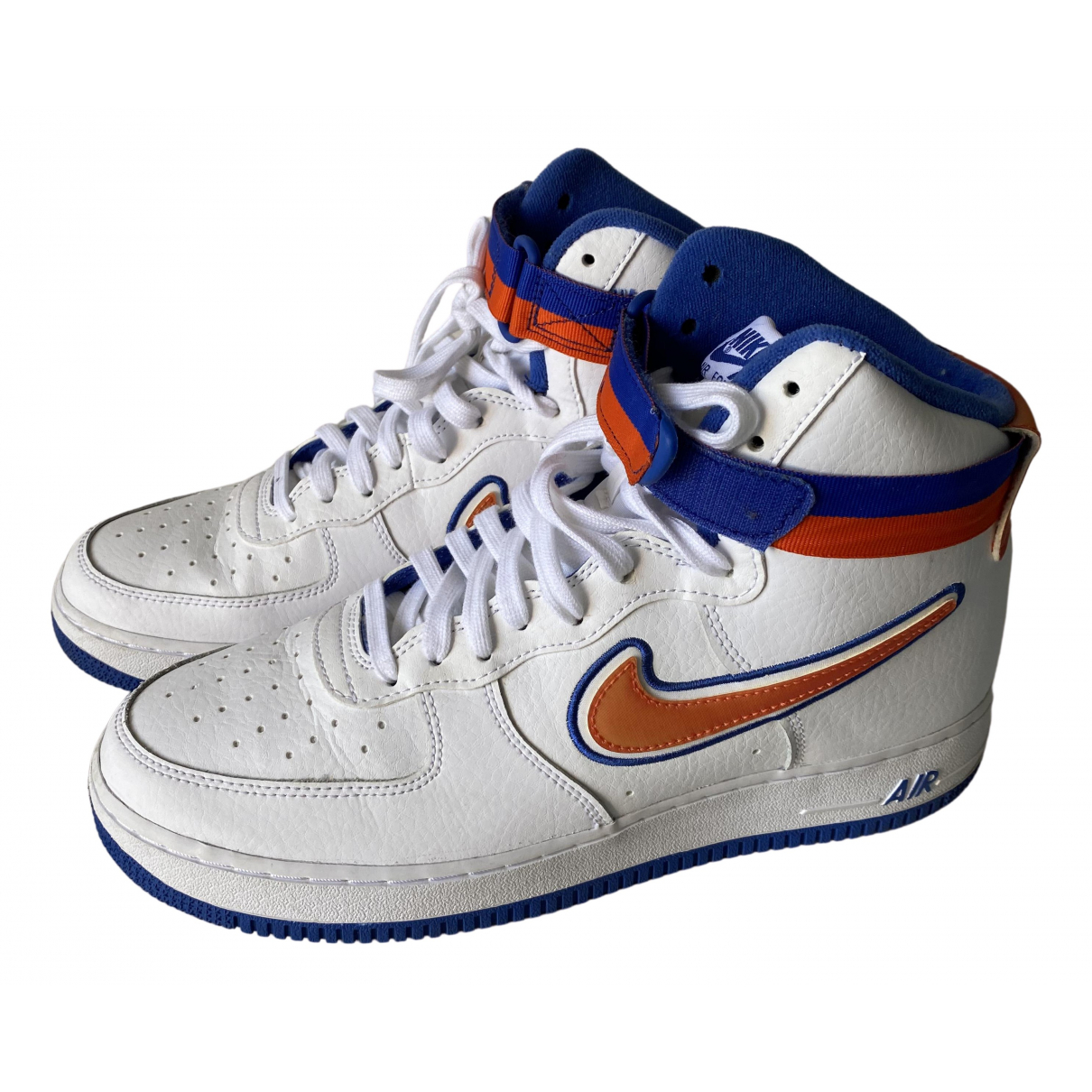 Nike Air Force 1 White Leather Trainers for Men 44 EU