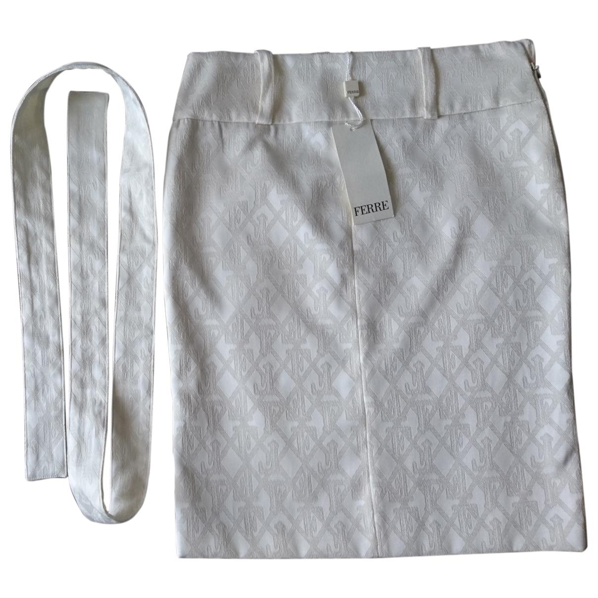 Gianfranco Ferré \N Beige Cotton skirt for Women 42 IT