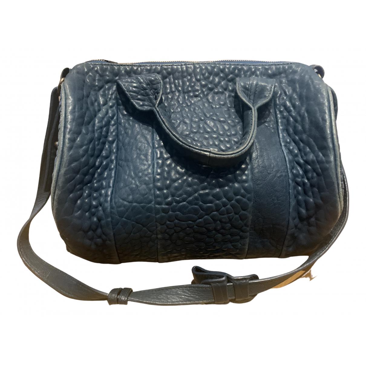 Alexander Wang Rockie Handtasche in  Blau Leder