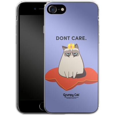 Apple iPhone 7 Silikon Handyhuelle - Dont Care von Grumpy Cat