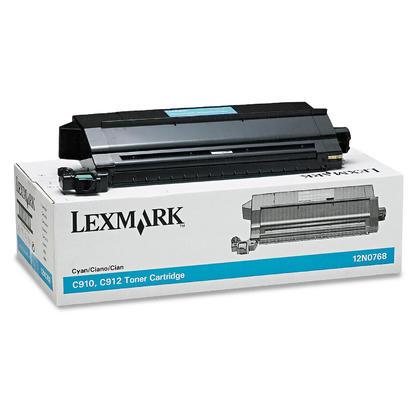 Lexmark 12N0768 cartouche de toner originale cyan