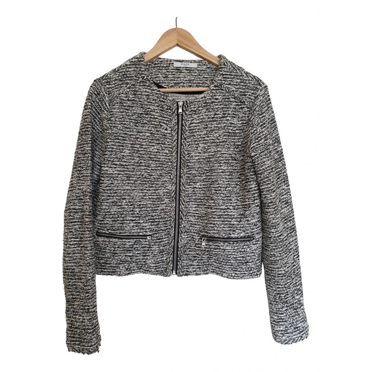 Zapa - Veste   pour femme en coton - gris
