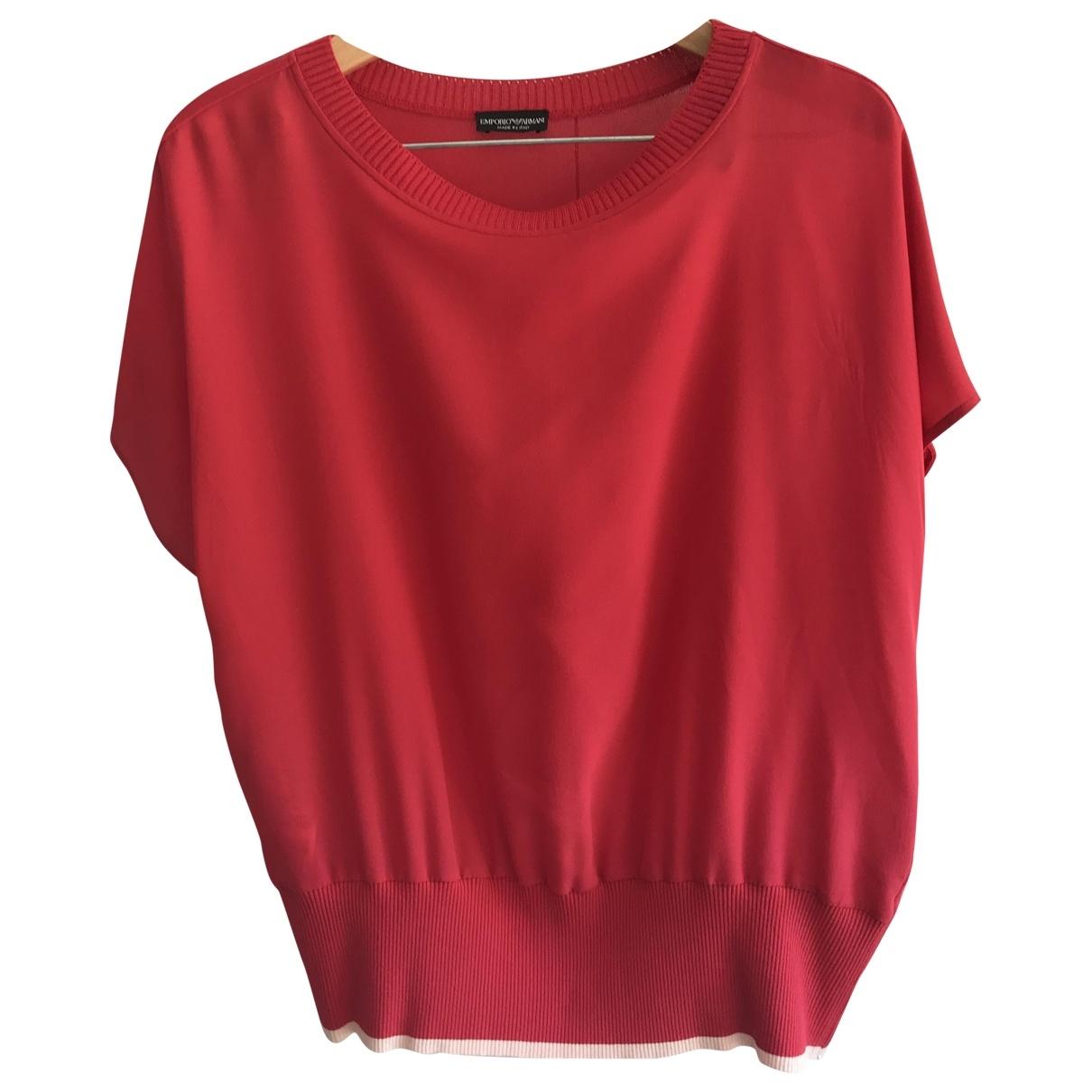 Emporio Armani \N Pink Silk Knitwear for Women 48 IT