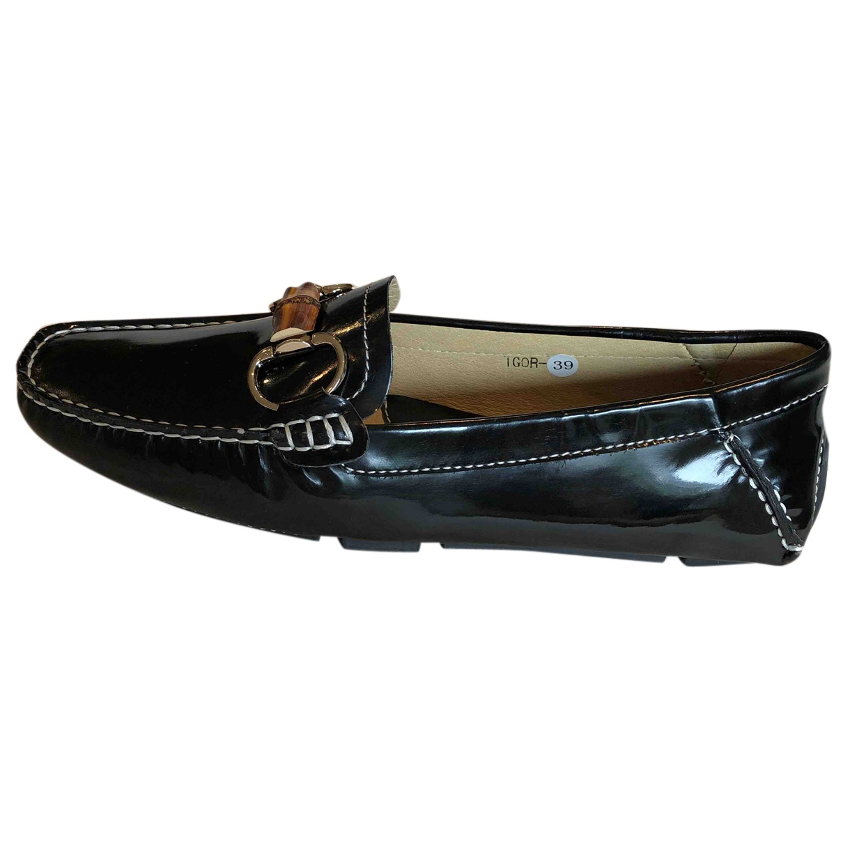 Lk Bennett N Black Patent leather Flats for Women 39 EU