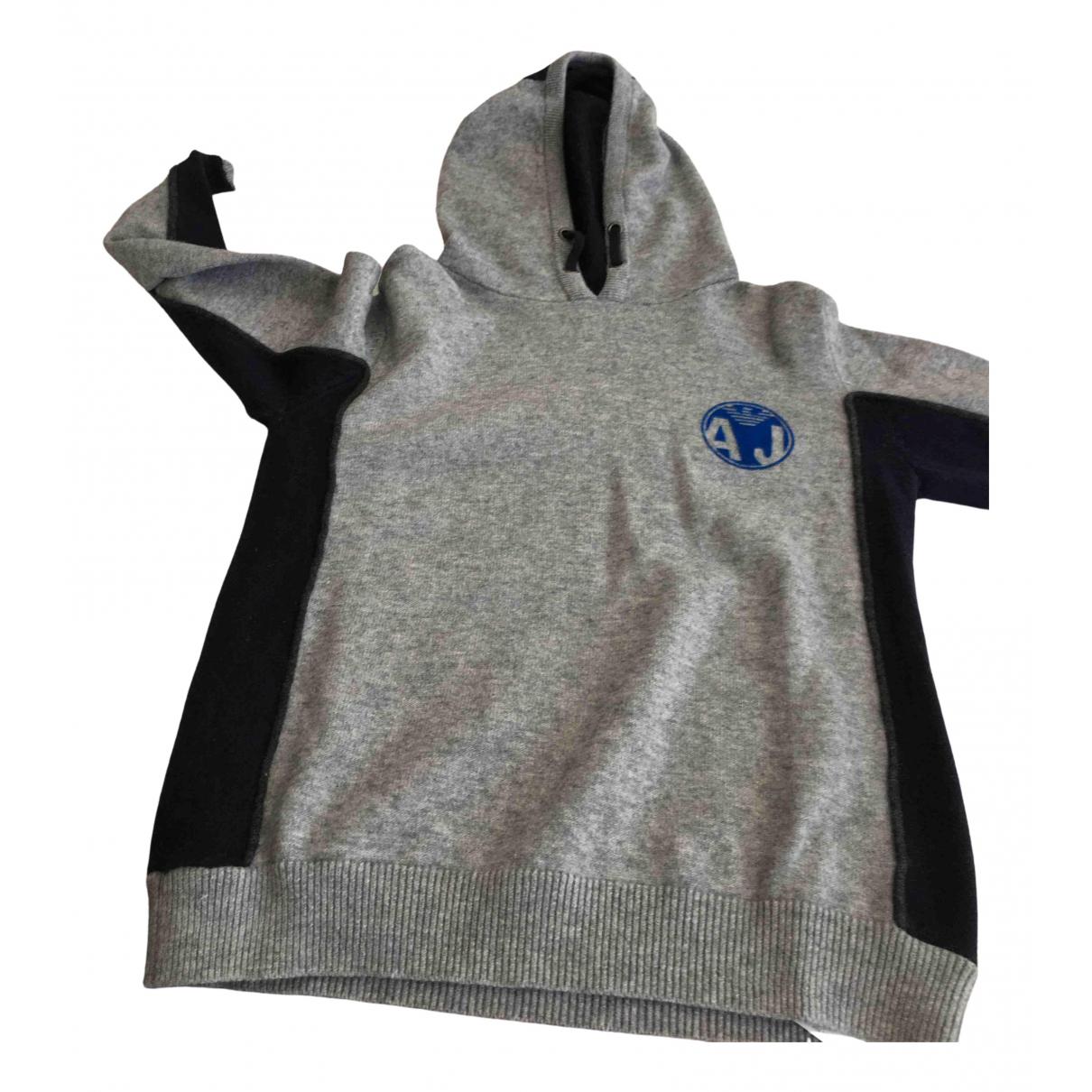 Armani Jean - Pull   pour enfant en laine - gris
