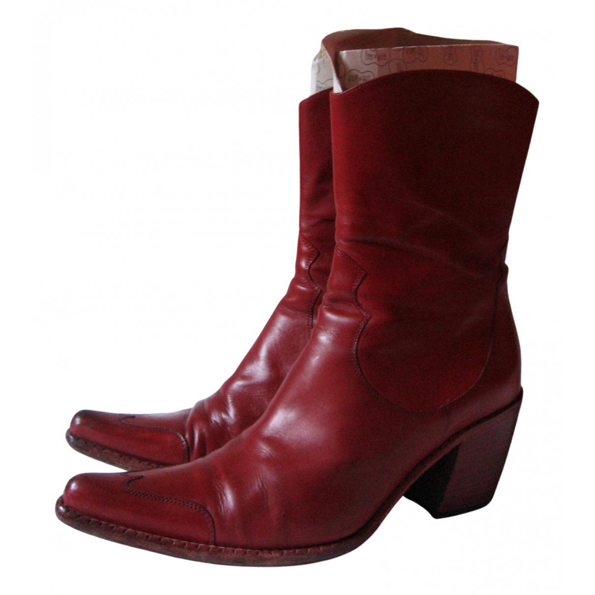 Free Lance \N Stiefeletten in  Rot Leder