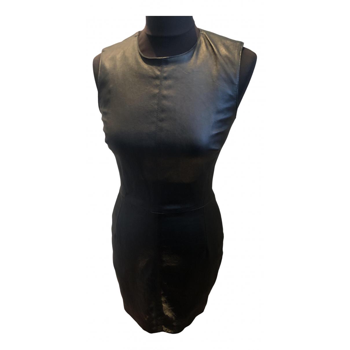 Plein Sud \N Kleid in  Schwarz Leder