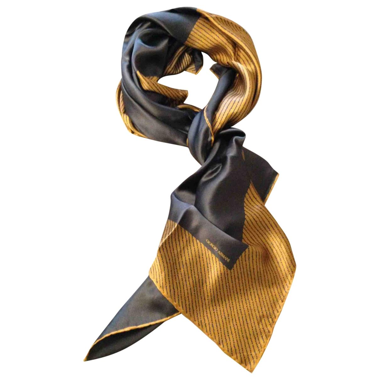 Giorgio Armani - Foulard   pour femme en soie - dore